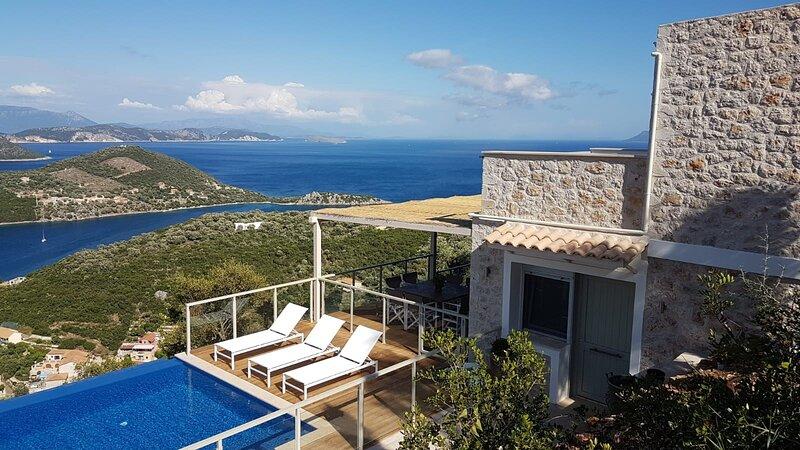 Alfresco Villas - Villa Tranquility - villa met adembenemend uitzicht, holiday rental in Sivota