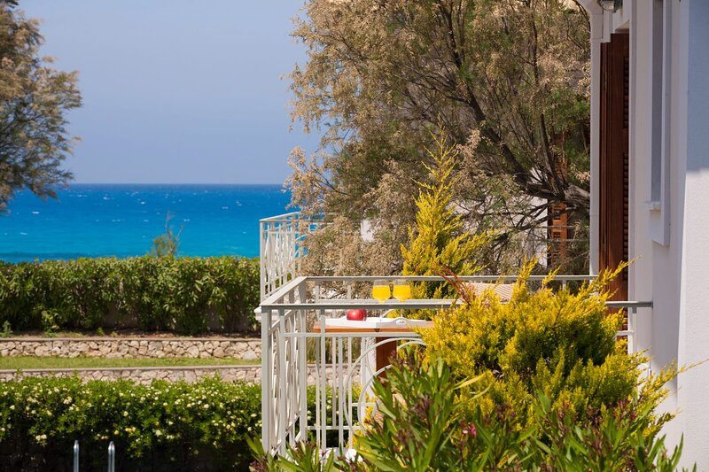 Aeriko-Ammos Beachfront Villa with Stunning View and Private Pool, holiday rental in Tsoukalades