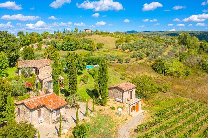 Aerial view showing of Villa Casale Silvia