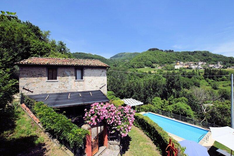Villa Collemandina: Large Private Pool, WiFi, holiday rental in Rifugio Orecchielle