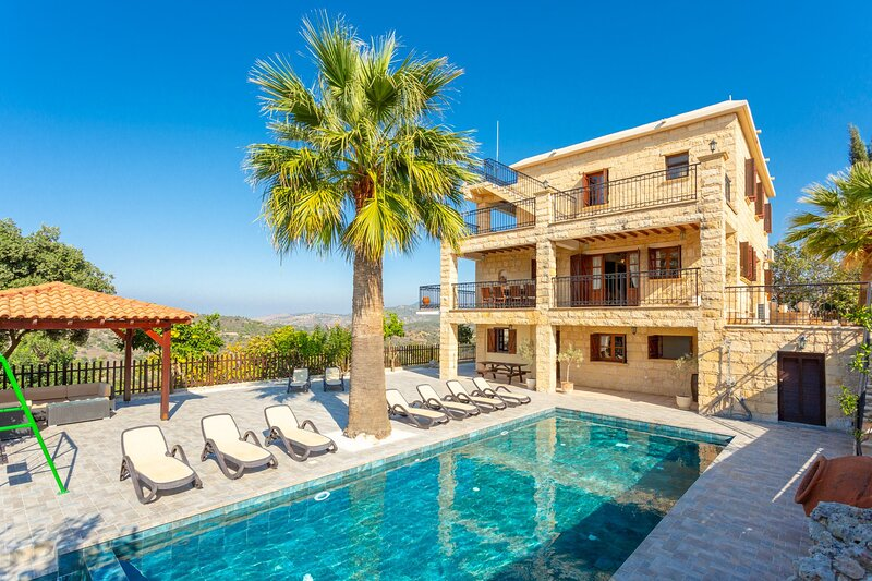 Villa Alexandros Palace: Large Private Pool, A/C, WiFi, holiday rental in Steni