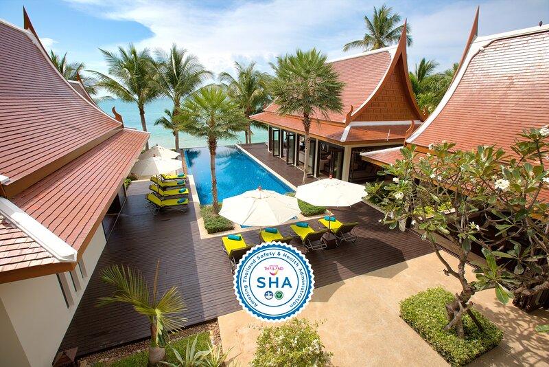 [30% OFF] Baan Chang Contemporary Beachfront Retreat w/ Pool, location de vacances à Lipa Noi