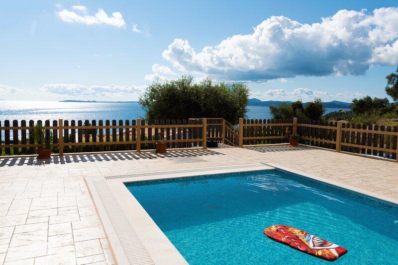 Corfu Sea View Villa Alya, vacation rental in Barbati