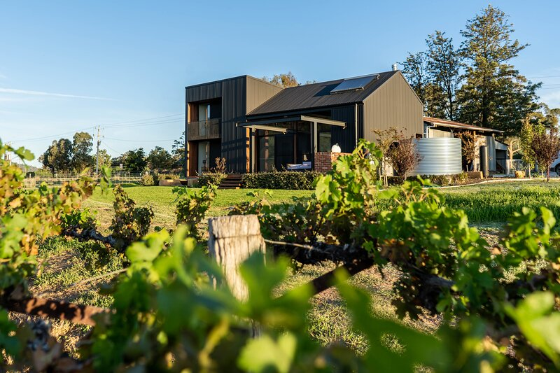 The Black Shed - Luxury Vineyard accommodation, holiday rental in Windeyer