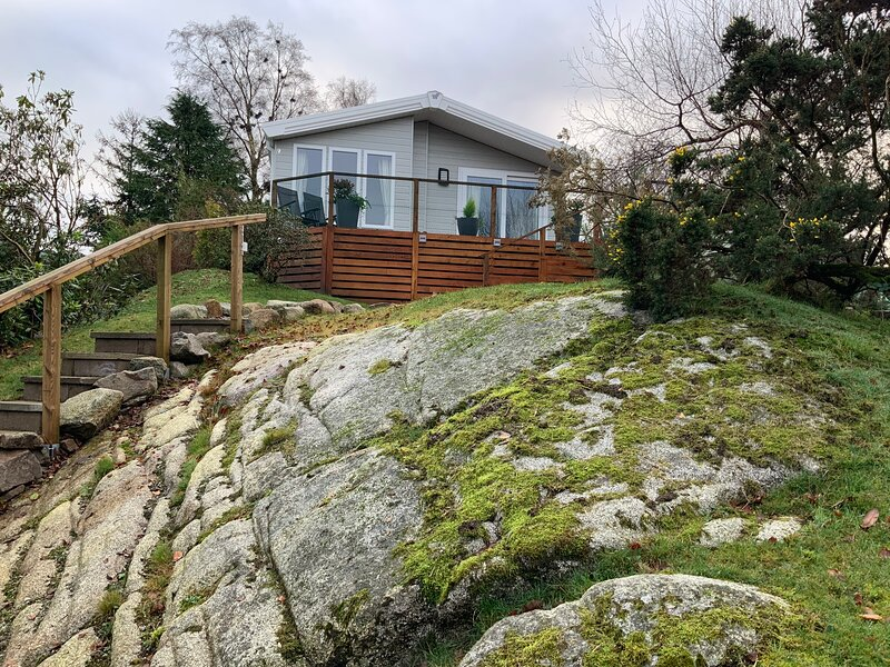 Beautiful new 2 bed lodge in Kippford, Dalbeattie., casa vacanza a Palnackie