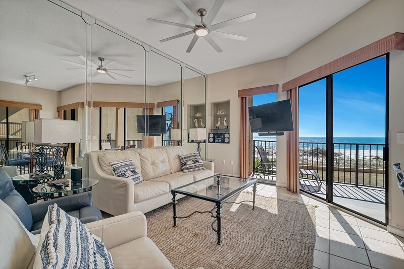 Open Plan Living and Dining Areas with Beach Views