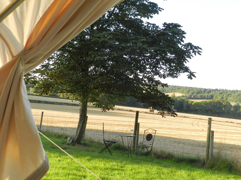 Cosy glamping bell tent in rural Herefordshire, holiday rental in Madley