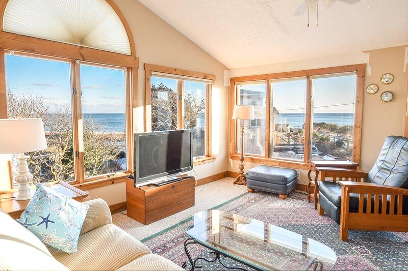 #724: 1-Min Walk to Nantucket Sound Beach! Water Views, 2 Decks, Patio, Outdoor, vacation rental in Harwich Port