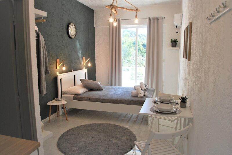 Modern, cosy studios - retreat, relax, explore, location de vacances à Ladiko