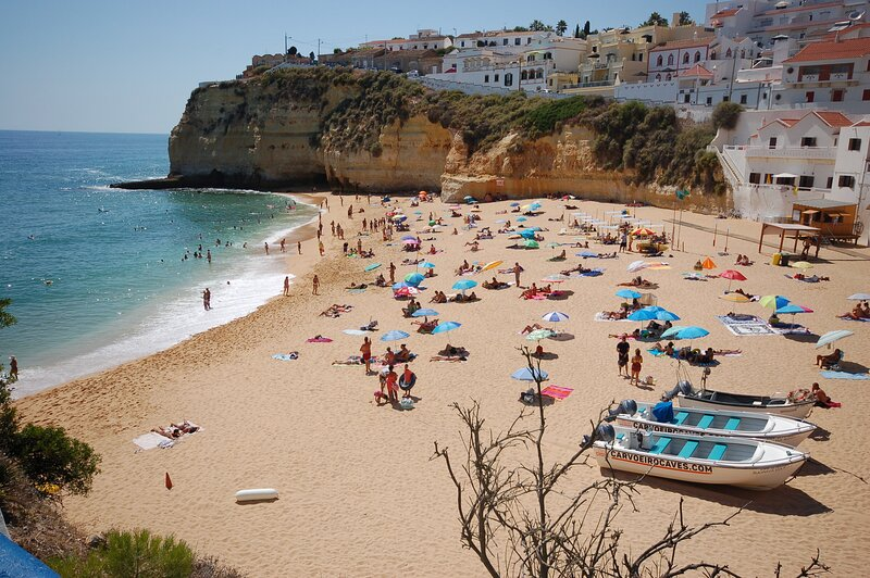 Carvoeiro Beach a six minute drive