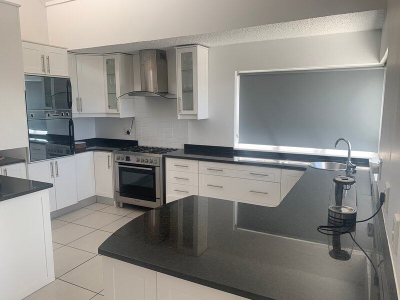 Fully equipped kitchen with beatful sea views
