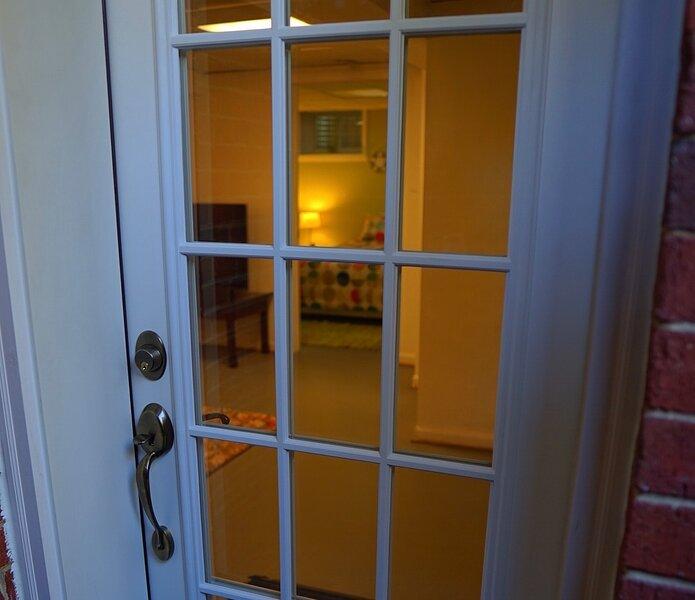 Basement apartment door