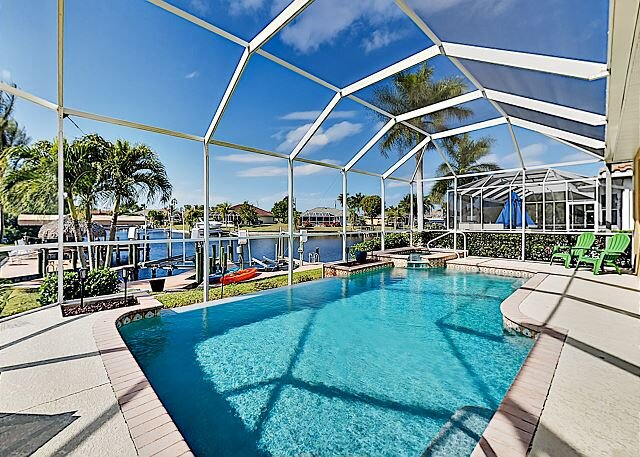 Lavish Canal-Front Villa | Heated Saltwater Pool, Spa & Dock | Gulf Access, Ferienwohnung in Cape Coral