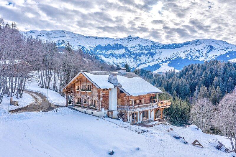 Exceptional Mont d'Arbois Chalet Les Meuniers, Megeve, alquiler vacacional en Megève