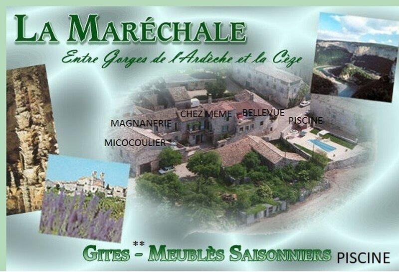GITES CLASSES 2**PISCINE LA MARECHALE LOCATIONS DE VACANCES, vacation rental in Barjac