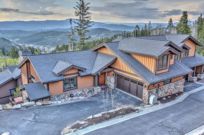 View of Lookout 2 - Deer Valley home facing front of house, overlooking the mountains and ski slopes
