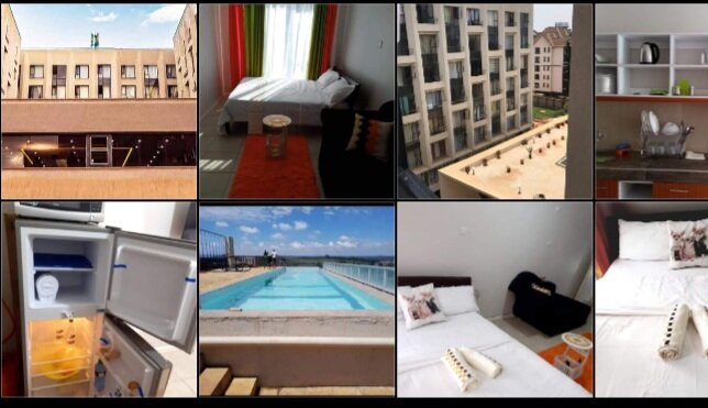 First class fully furnished studio apartments. Wifi Netflix swimming pool, holiday rental in Mount Kenya National Park