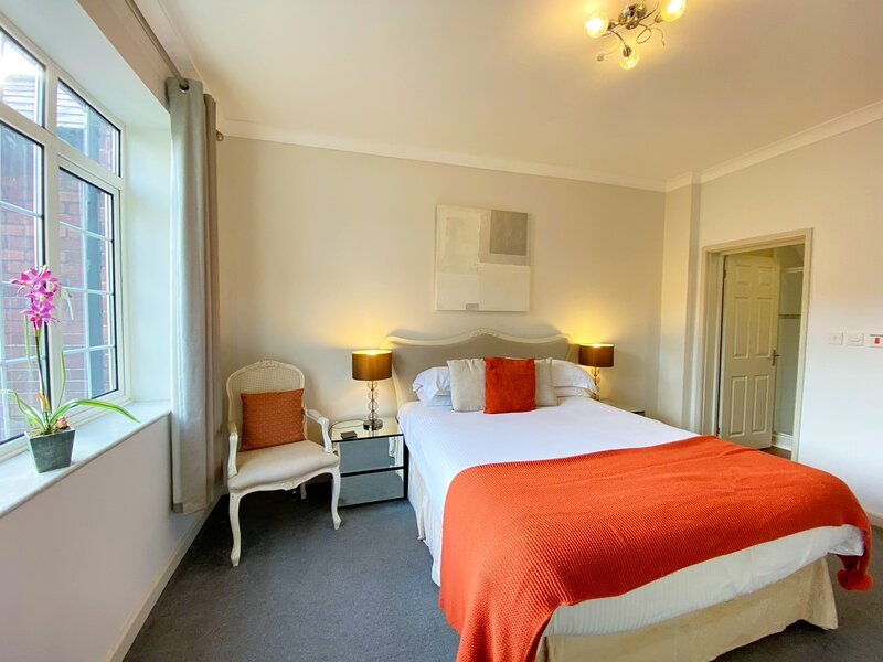Main bedroom has an ensuite bathroom with shower.