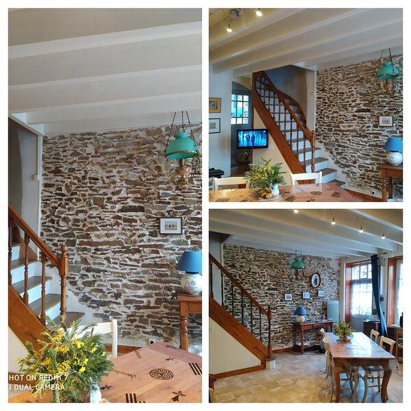 Maison 1804 à 10minutes à pied du port parking privé ,jardin, casa vacanza a Cancale