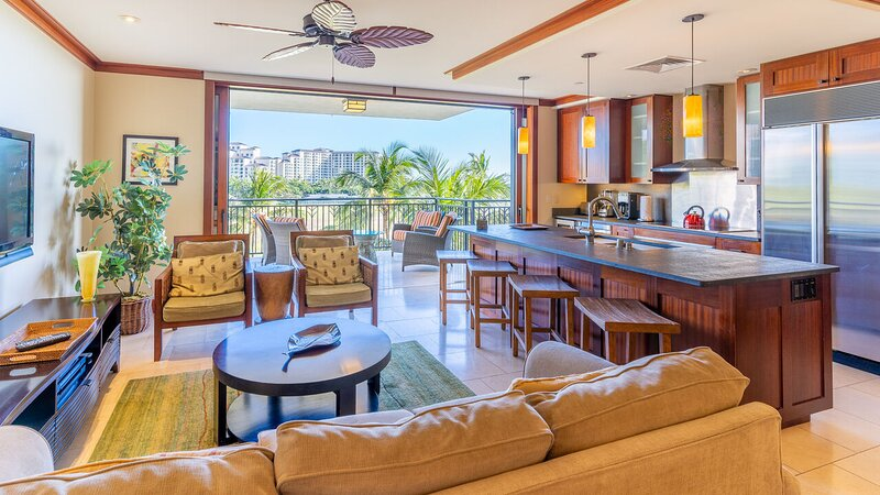 A view of the Lanai from the Entry to our Oahu Ko Olina Beach Villa