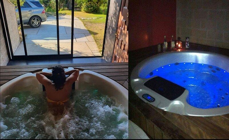 Preciosa Casa Rural con piscina y jacuzzi, aluguéis de temporada em Soutomaior