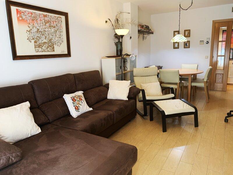 salón-comedor desde el sofá chaise-longue