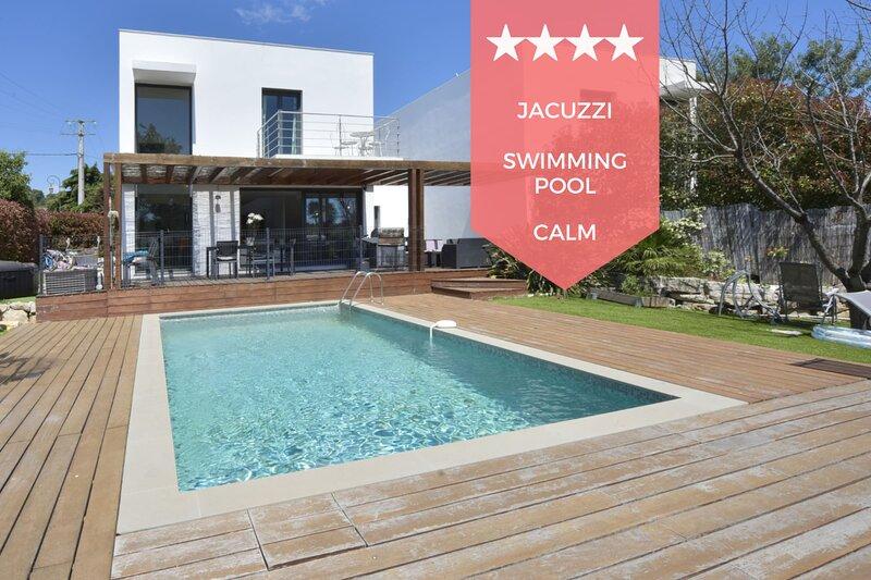 ☀️ RARE – Contemporary Villa with Swimming Pool & Jacuzzi, 10 Minutes from, location de vacances à La Roquette-sur-Siagne