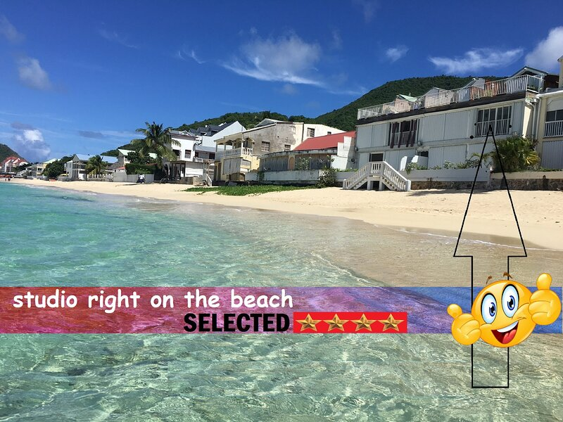 studio paradise feet in water on grand case beach., holiday rental in Grand Case