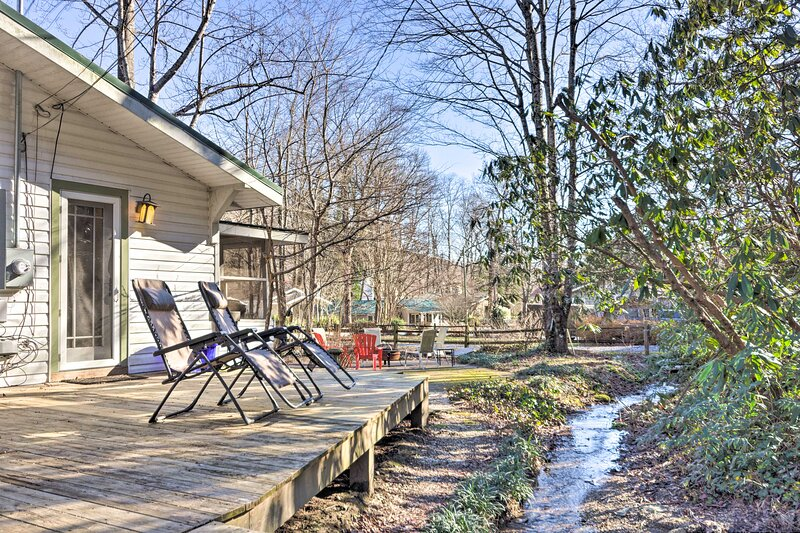 NEW! Cottage: Fire Pit, BBQ, Walk to Chimney Rock!, holiday rental in Chimney Rock