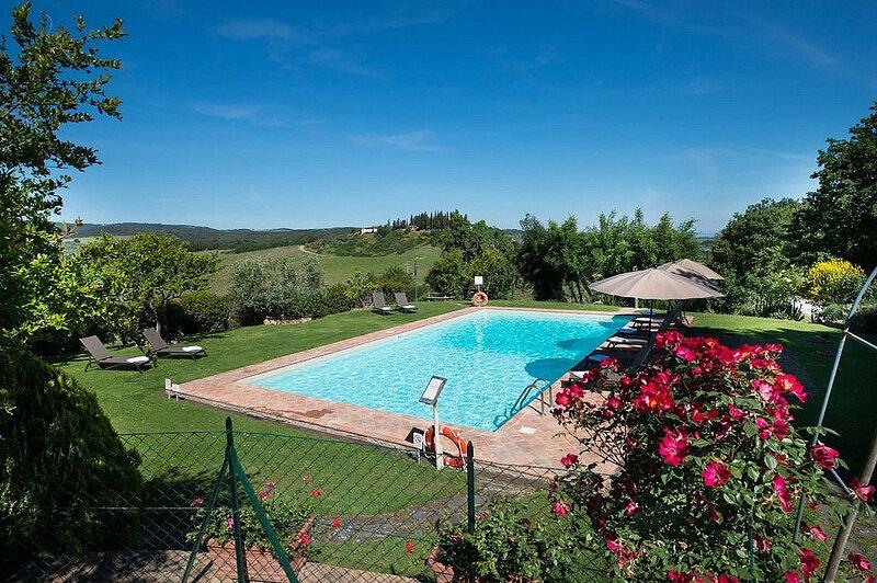 Luiano Villa Sleeps 10 with Pool and Air Con - 5882548, alquiler de vacaciones en Pancole