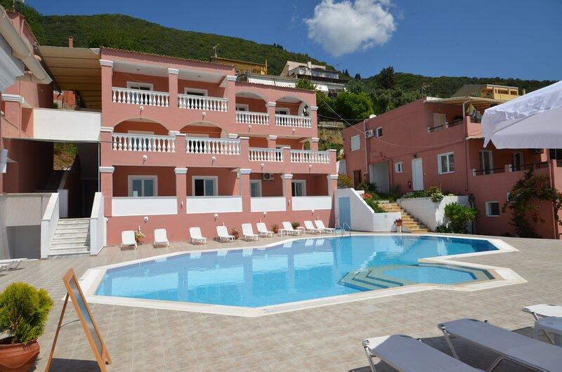 Corfu Poolside Paradiso-Panoramic Seaview Studio, holiday rental in Analipsi