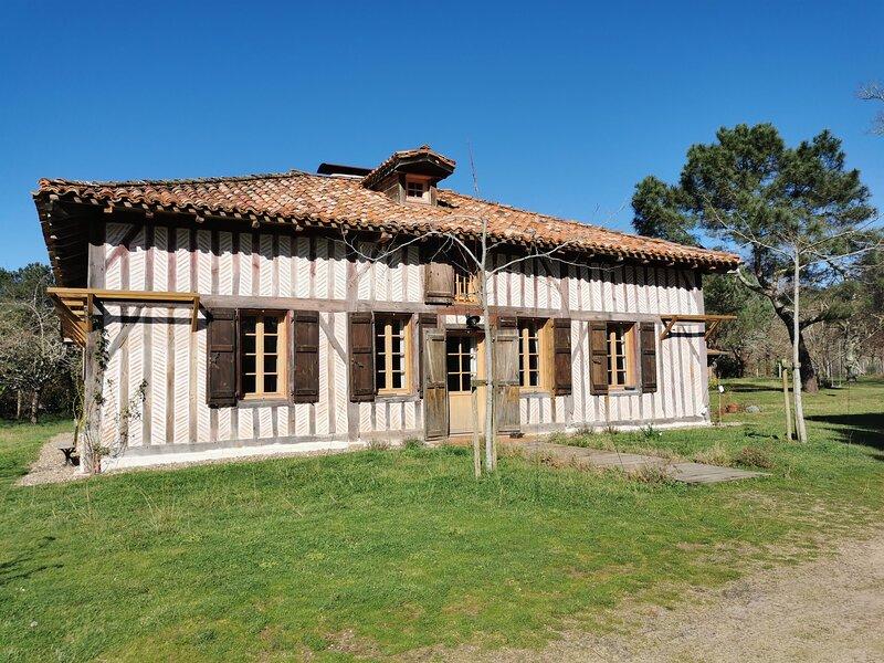 Maison de charme Landaise au coeur d'un airial, Ferienwohnung in Saint-Michel-Escalus
