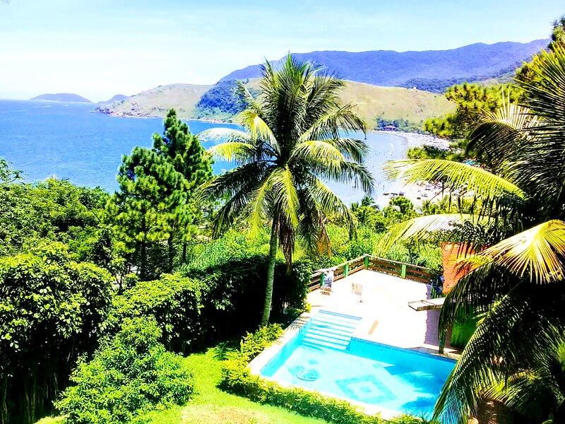 Casa com Piscina, Jardim e Vista Incrível p/ o mar, casa vacanza a Cambaquara