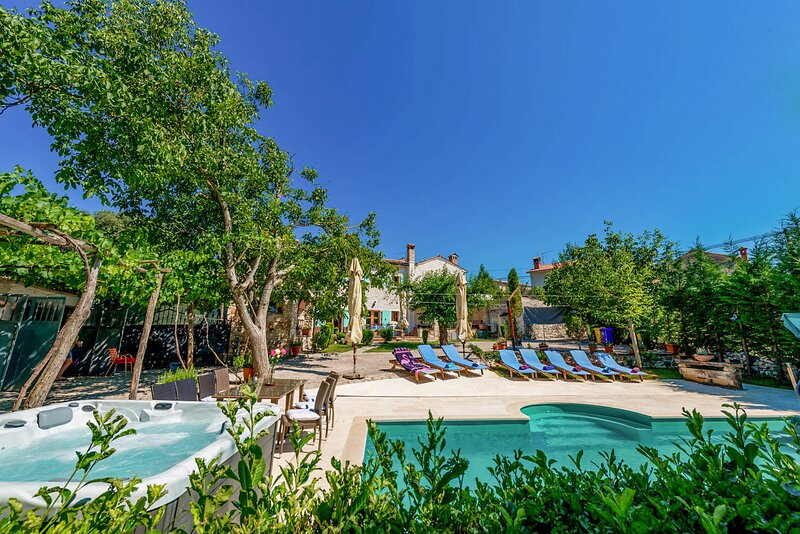 Stone Villa Damiana, in Istria, with a Pool, holiday rental in Zminj