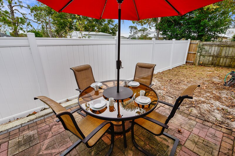 Rear Patio with Grill