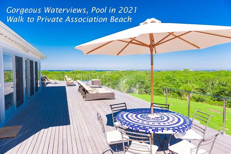 REIDM - Water Views, New Heated Pool for 2021, Walk to Private Association Beach, alquiler de vacaciones en West Tisbury