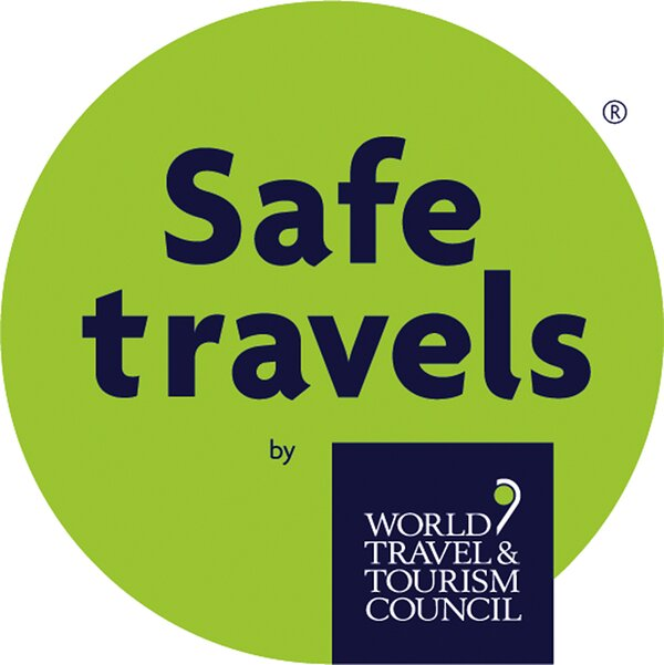 """We've received our """"Safe Travels"""" stamp from the World Travel & Tourism Council."""