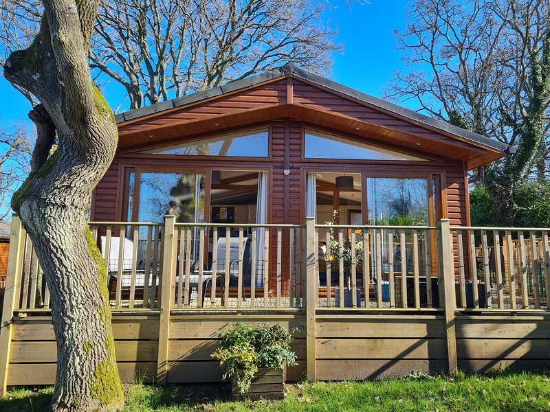 Stunning Bright And Spacious Lodge with shared indoor pool - Nr Guildford, location de vacances à Shalford