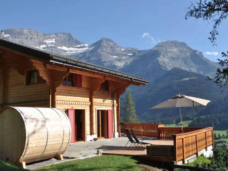 Chalet Edelweiss Vue Imprenable Sur Le Glacier, casa vacanza a Les Diablerets