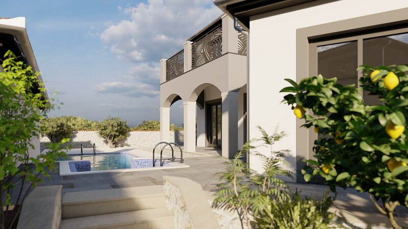 Beautiful Villa Dalmatinka, with a Pool, vacation rental in Policnik