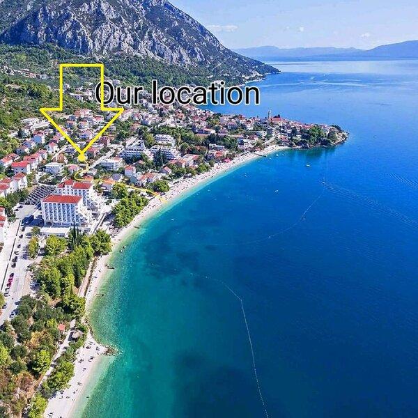 Goge - 90 m from the beach: A1(4) - Gradac, casa vacanza a Gradac