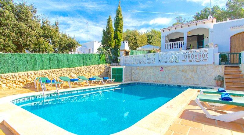 Villa Ohana con piscina privada en Cala Galdana – semesterbostad i Cala Galdana