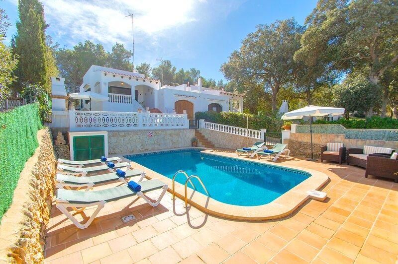 Villa Ohana in Cala Galdana with private pool and free wifi – semesterbostad i Cala Galdana