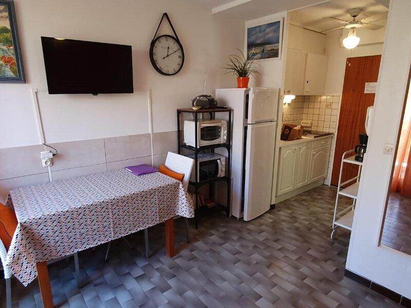 Location saisonnière - REF 0140 - Studio classé 2 étoile de 19m2, holiday rental in Bouzigues