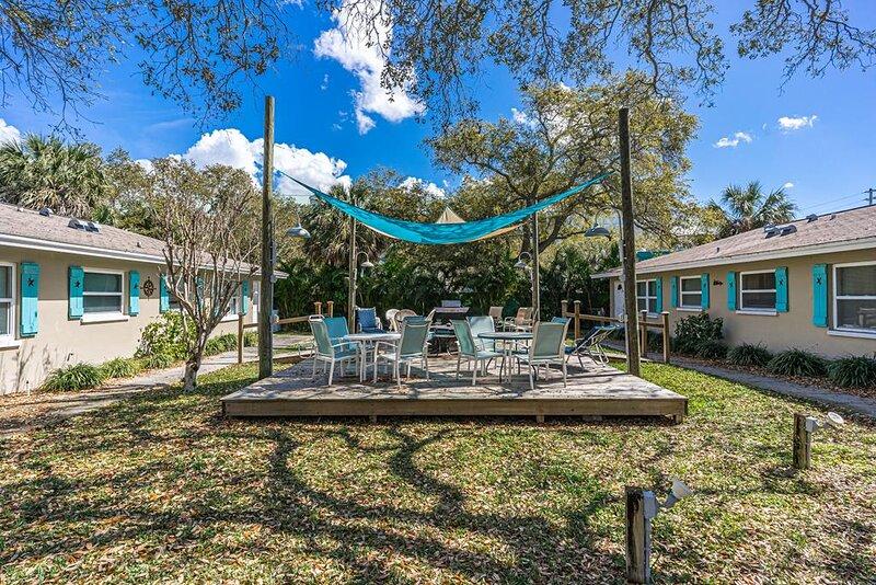 Common area deck for the 4 Villas