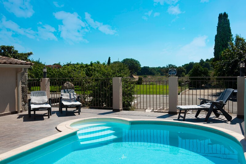 maison piscine privée, location de vacances à Castello-di-Rostino