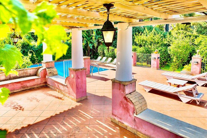 Villa EtnaSicily with private pool and garden, holiday rental in Santa Venerina