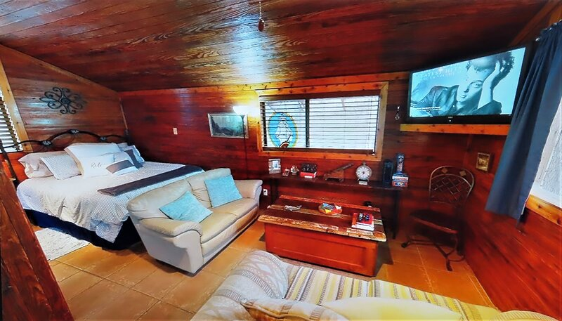 Only 4 miles from Texas A&M but secluded-in the woods, clean, treehouse cabin., vacation rental in College Station