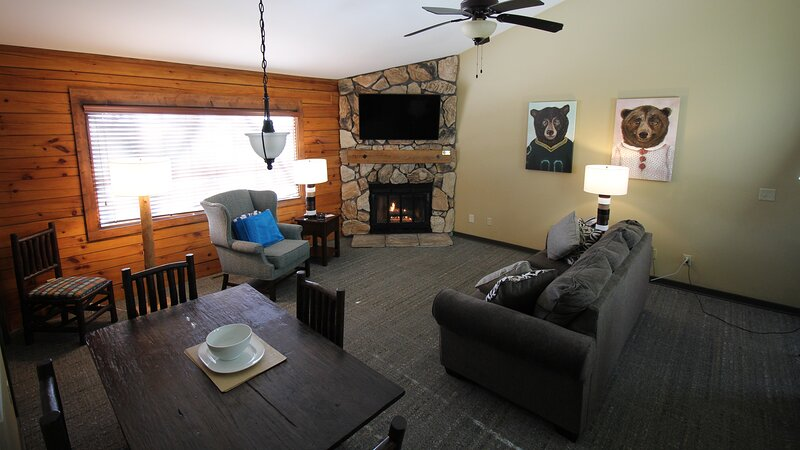 Entire Cabin 2 WI Dells 3 beds(2 Bedrooms) 2 Baths with Fully Equipped Kitchen, vacation rental in Reedsburg
