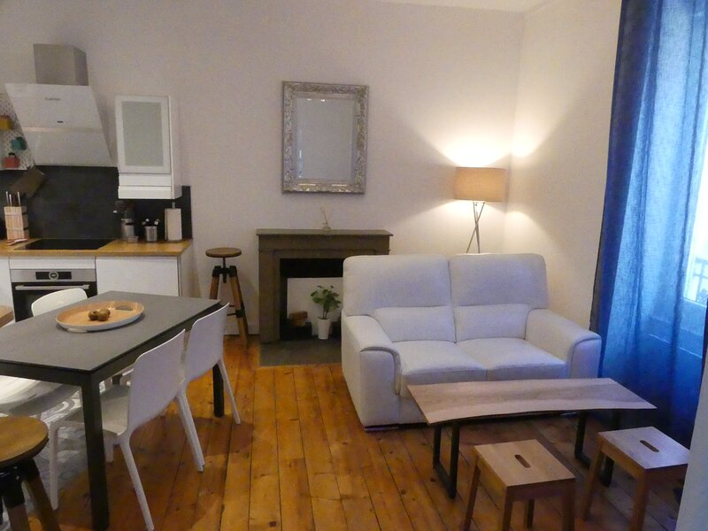 Appt cosy centre ville 50m², 1 Ch et 1 Bur (12m²), Championnet, holiday rental in Claix